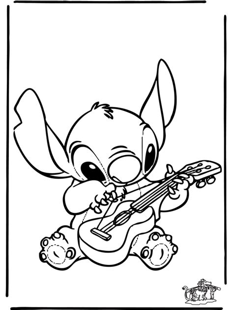 disney stitch and angel colouring pages page 3 az