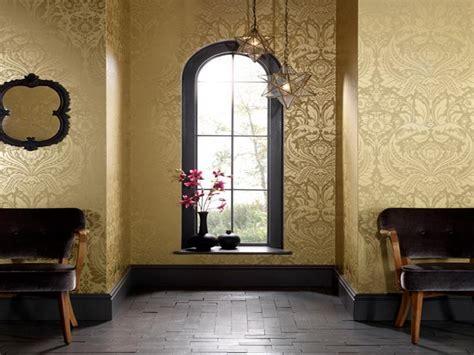 gold wallpaper living room ideas papel pintado para vestir tus paredes 191 te atreves