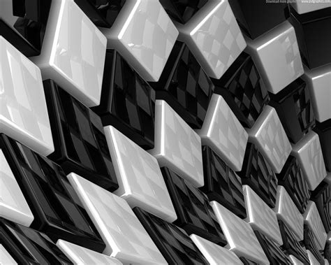 black and white themed pattern abstract cubes background psdgraphics