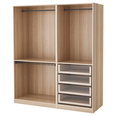 Wardrobes Ikea Uk by Pax Wardrobe White Stained Oak Effect 175x58x201 Cm Ikea