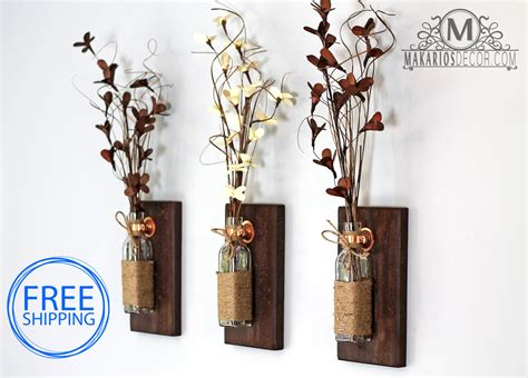 Wall Vase Sconce Country Home Decor Rustic Wall Decor Rustic By Makariosdecor