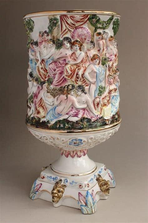 Capodimonte Large Vase by Large Capodimonte Urn Form Vase