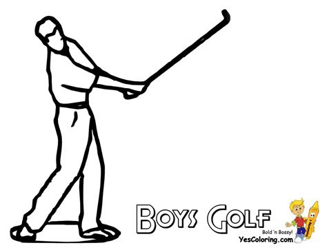 printable golf images golf colouring pages