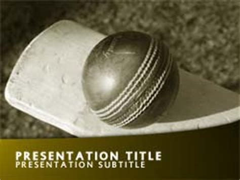 cricket themes for ppt free cricket powerpoint template