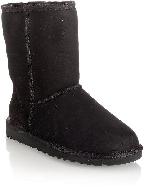 ugg suede boot in black lyst