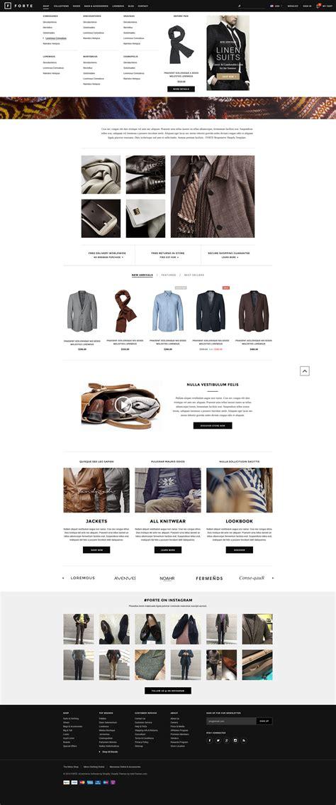 shopify themes with megamenu forte responsive shopify template halothemes com