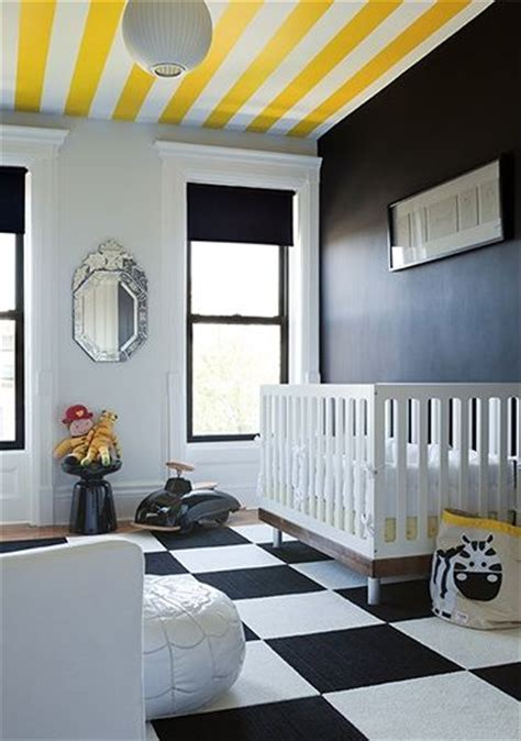Black White And Yellow Wall