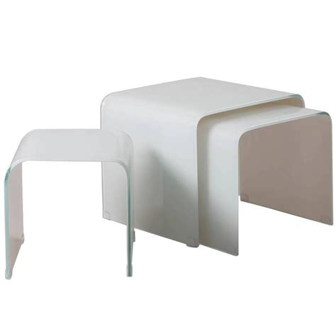 opaque couch tara shaw maison opaque white waterfall glass nesting