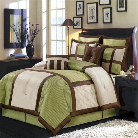 color block comforter modern color block green and ivory comforter set luxury