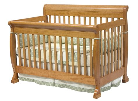 Babie Cribs Davinci Kalani 4 In 1 Convertible Baby Crib In Oak W Toddler Rails M5501o