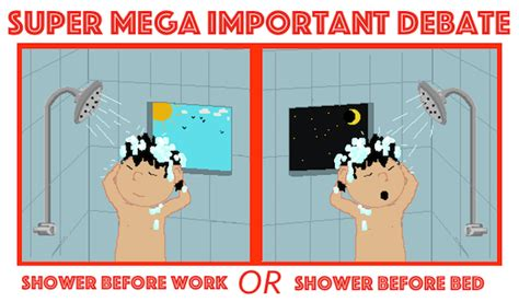cold shower before bed super mega important debate do you shower before work or