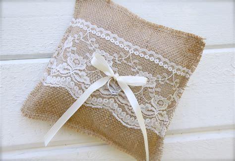 Burlap Ring Pillow by Burlap Ring Bearer Pillow Wedding Pillow By Butterflyabove
