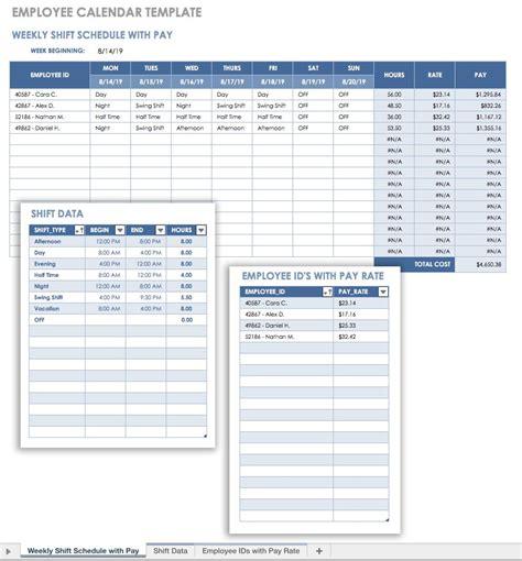 employee calendar template 15 free payroll templates smartsheet