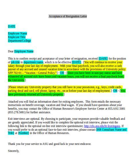 employment resignation letter 7 sle employment resignation letters sle templates