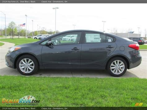Kia Forte 2014 Black 2014 Kia Forte Lx Steel Blue Black Photo 6 Dealerrevs