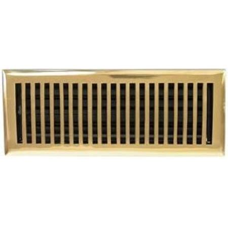 10 5 x 4 5 floor vent covers 2 quot x 10 quot brass plated contemporary floor register vent
