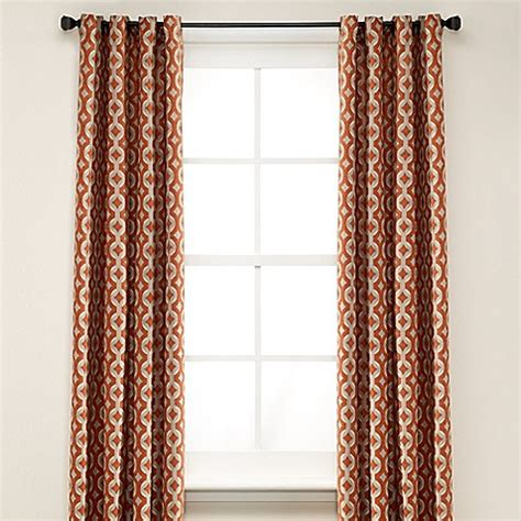 rust curtain panels buy anello 63 inch grommet top window curtain panel in