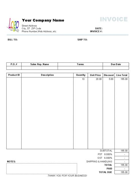 format invoice bill excel invoice format in excel sheet free download free