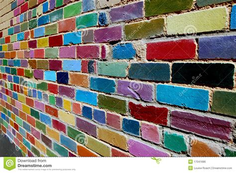 painted brick wall royalty free stock image image 17041686