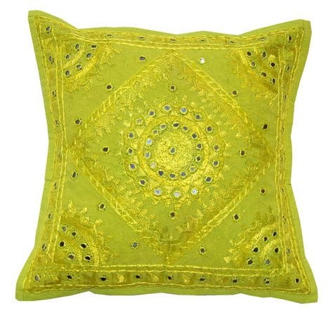 Pillow Cushion Covers by New Made Cotton Embroidery India Pillow Cushion Cover