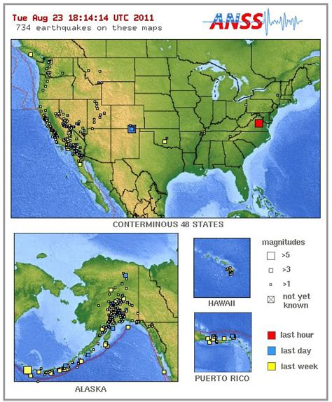 Earthquake Map Usa by Irregular Con Us Earthquake Activity Monolithik