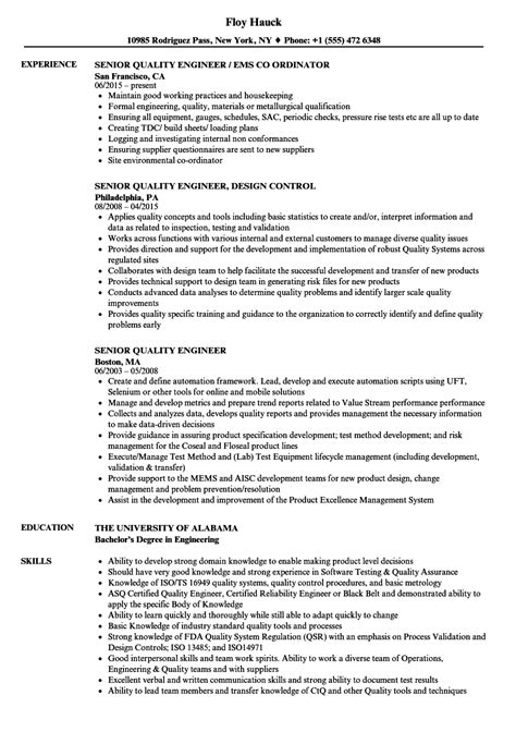 test engineer resume test engineer resume samples visualcv resume