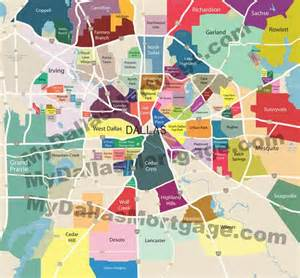 dallas quot neighborhood map quot showing areas considered to be