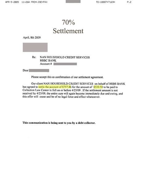 Letter To Bank For Settlement Of Loan free printable settlement letter form generic