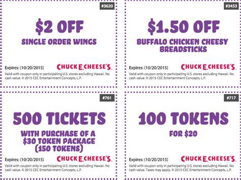 Chuck E Cheese Coupons 2018 Printable