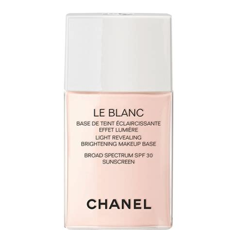 Chanel Le Blanc Whitening Spf 30 Fluid Foundation le blanc light revealing brightening makeup base spf 30 10 ros 201 e le blanc chanel makeup