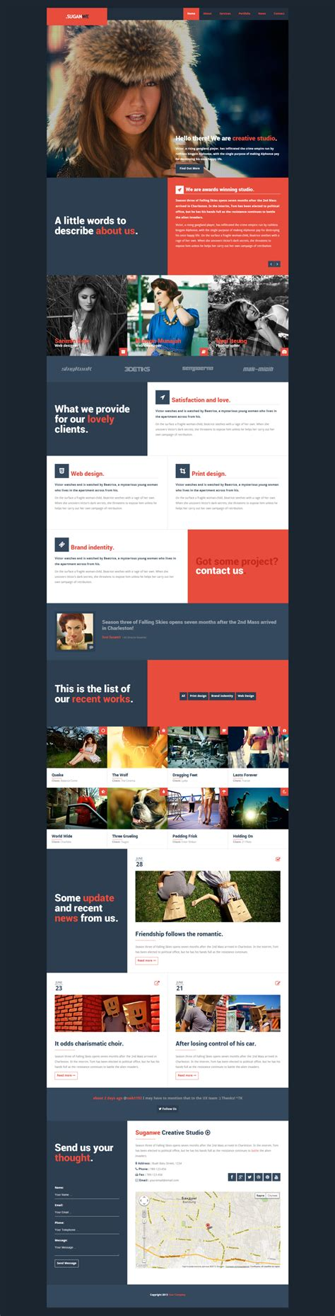 one page html5 responsive template suganwe responsive one page template html5 by