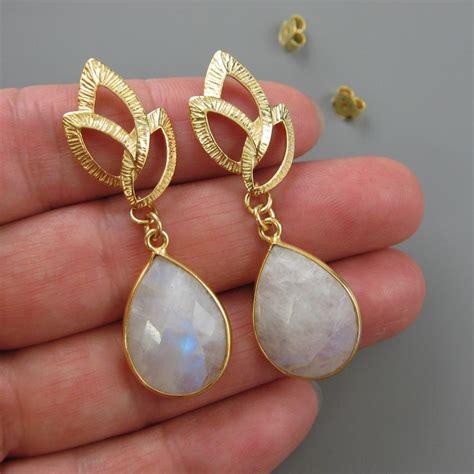 gemstone earring gold earrings bezel gemstone earrings gold plated fancy