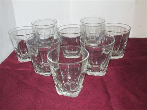Bar Glasses Set Libbey Duratuff Tumblers Set Of 8 Glassware Bar Glasses