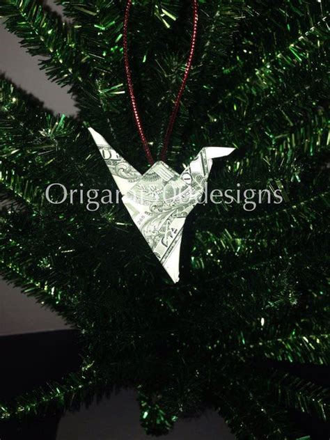 money origami crane 1000 images about origami tree ornaments on