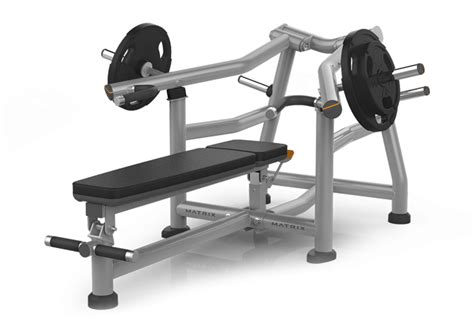 bench press machines plate loaded matrix fitness magnum series supine bench