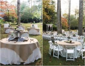 backyard rustic wedding reception idea via