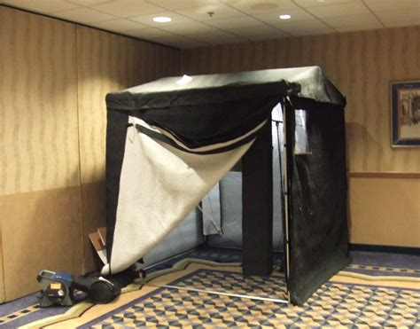 this is portable size 6 x 6 vocal booth in bags