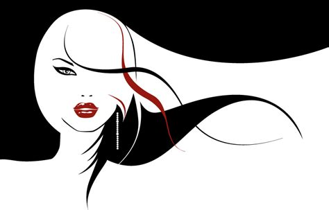 powerpoint design hair vector girls with long hair flowing free vector 4vector