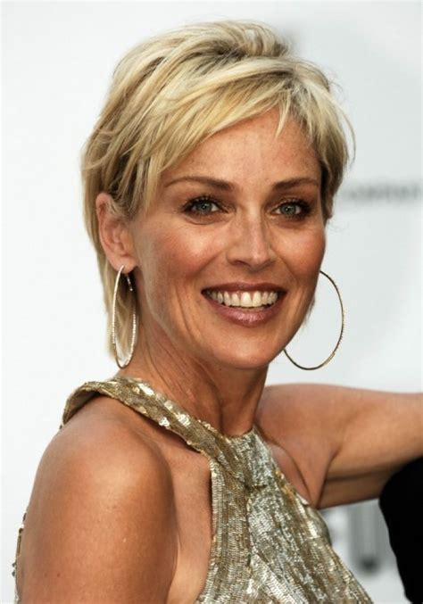 Puxie Hair Of 50 Ye Old Celrbrities | 25 best ideas about sharon stone hairstyles on pinterest