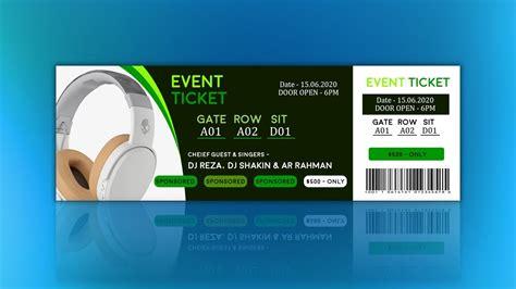 free online tickets maker design a custom ticket canva
