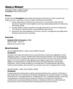 sle letter of resume to work receptionist resume objective receptionist resume is