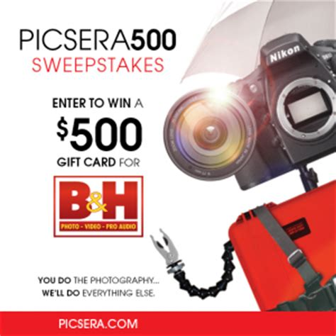 B H Gift Card - win a 500 gift card from b h photo picsera