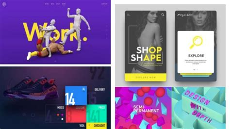 trending design 2017 ui design trends for 2017