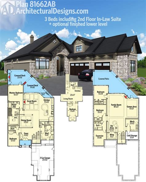 house plans inlaw suite one story house plans with connecting in law suite house plan 2017