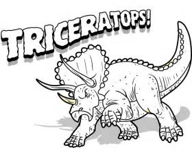 coloring pages of dinosaurs free printable triceratops coloring pages for