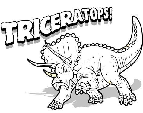 free coloring pages of dinosaurs free printable triceratops coloring pages for kids