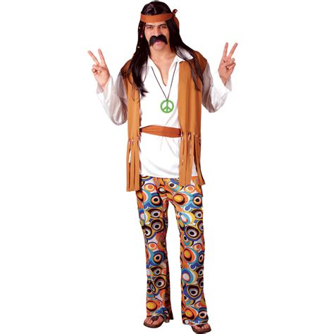 60s Woodstock Hippie Hippy Mens Fancy Dress Costume   eBay