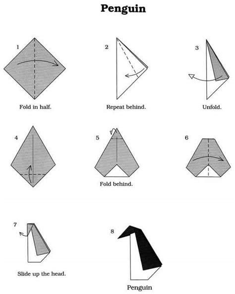 Origami Penguin Easy - origami penguin penguins your meme