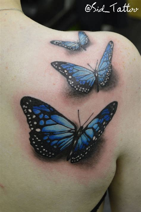 3 butterfly tattoo designs butterfly