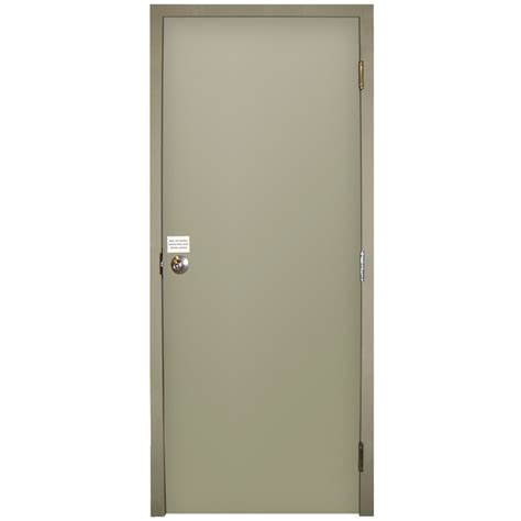 30 Inch Exterior Door Lowes Shop Milliken Resistant Flush Prehung Inswing Steel Entry Door Common 36 In X 80 In
